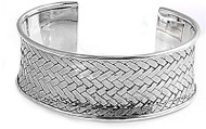 29MM Sterling Silver Braided Designer Bangle Bracelet