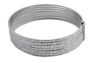Diamond Cut Design 7-Day Bangle Bracelet Sterling Silver 15 X 50MM