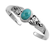 Simulated Turquoise Fashion Bangle Sterling Silver