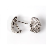 Clear Cubic Zirconia 16MM Earrings Sterling Silver