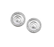 Cubic Zirconia Swirl Earrings Sterling Silver 18MM