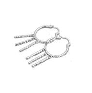 Cubic Zirconia Fashion Earrings Sterling Silver 43MM