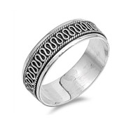 Crooked Line Spinner Sterling Silver 925 Ring