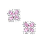 Cubic Zirconia Fashion Earrings Sterling Silver 21MM