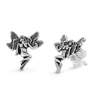 Fairy Stud Earrings Sterling Silver 12MM