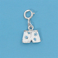 Boxer Shorts Add On Charm Sterling Silver 15MM