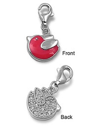 Bird Add On Charm Sterling Silver 16MM