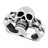 Succubus Death Skull Ring Sterling Silver 925