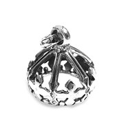 Crown Pendant Sterling Silver 21MM