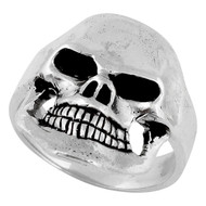 Famine Death Skull Ring Sterling Silver 925