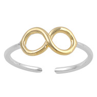 Infinity Cubic Zirconia Knuckle / Toe Ring Sterling Silver 5MM