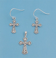 Cross Matching Set Sterling Silver 23MM