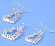 Heart Matching Set Sterling Silver 17MM