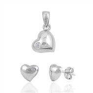 Heart Matching Set Sterling Silver 12MM