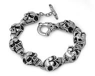 Skull Biker Bracelet Stainles Steel Size 10
