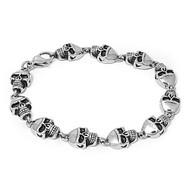 Skull Biker Bracelet Stainles Steel Size 8.5