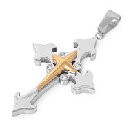 Cross Pendant Stainles Steel 49MM