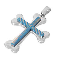 Cross Pendant Stainles Steel 40MM