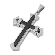 Cross Pendant Stainles Steel 51MM