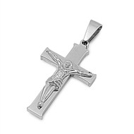 Crucifix Pendant Stainles Steel 37MM