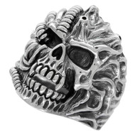 Alien Beast Skull Ring Sterling Silver 925
