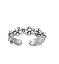 Flowers Knuckle/Toe Ring Sterling Silver  5MM