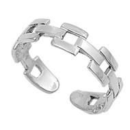 Chain Link Design Knuckle/Toe Ring Sterling Silver  4MM