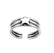 Star Knuckle/Toe Ring Sterling Silver  5MM