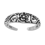 Flower Filigree Knuckle/Toe Ring Sterling Silver  5MM