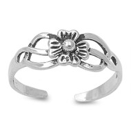 Flower Plumeria Filigree Knuckle/Toe Ring Sterling Silver  5MM