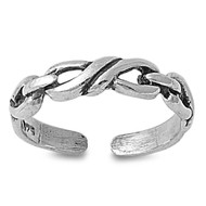Infinity Knot Knuckle/Toe Ring Sterling Silver  4MM