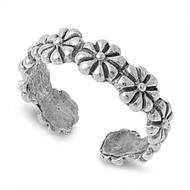 Eternity Flower Knuckle/Toe Ring Sterling Silver  4MM