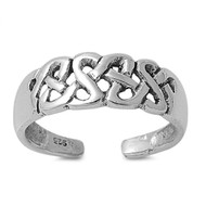 Wicca Bind Knuckle/Toe Ring Sterling Silver  6MM