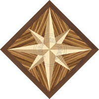 Compass Mint Zebrawood 36""