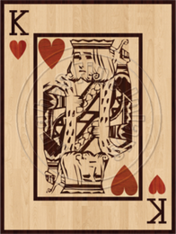 King of Hearts 36x27""