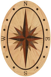 Sailors Sky Oval - Red Oak 36""