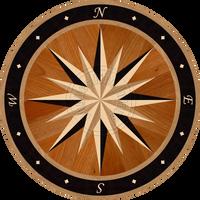 "Sailors Wheel - Night Voyage 36"""