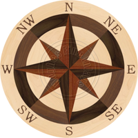 Sea Compass North Full (Maple) 18""