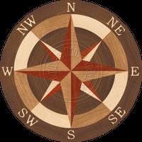 """Sea Compass North Full 42"""""""