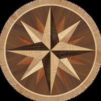 "Sea Compass Dark 18"""