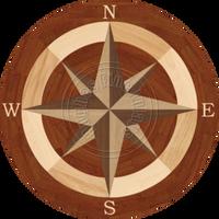"Sea Compass North with N (Braz Cherry) 59"""