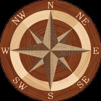"""Sea Compass North Full (Braz Cherry) 48"""""""