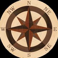 """Sea Compass North Full (Maple) 28"""""""