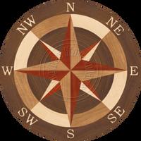 """Sea Compass North Full 28"""""""