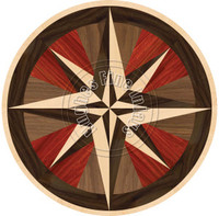 "Stella Compass Wenge w/ Border 36"""