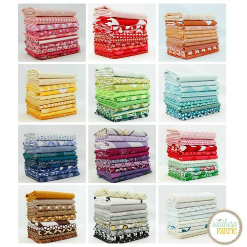 Complete Colors Fat Quarter Bundle (120 pcs) by Mixed Designers for Southern Fabric (CO.CC.120FQ)