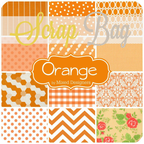 Orange Scrap Bag (approx 2 yards) by Mixed Designers for Southern Fabric (OR.SB)