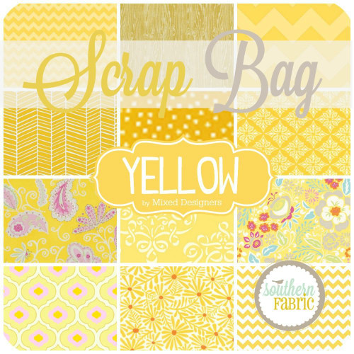 Yellow Scrap Bag (approx 2 yards) by Mixed Designers for Southern Fabric (YE.SB)