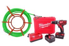 "CustomEyes (CE14KIT2M) 1/4""x 50' Mini Cyclone Kit with Milwaukee Kit (CE2607-22)"