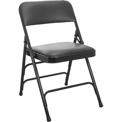 Fantastic Advantage Padded Metal Folding Chair Black 1 In Vinyl Seat Ha Mc309Av Bk Gg Pabps2019 Chair Design Images Pabps2019Com
